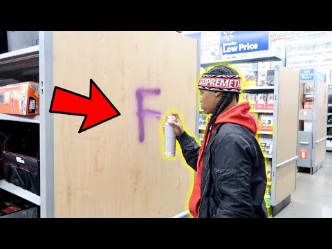 TRYING TO GET KICKED OUT OF WALMART CHALLENGE!!! *SET OFF SIRENS*