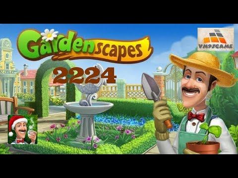 GARDENSCAPES Gameplay - Level 2224 (iOS, Android)