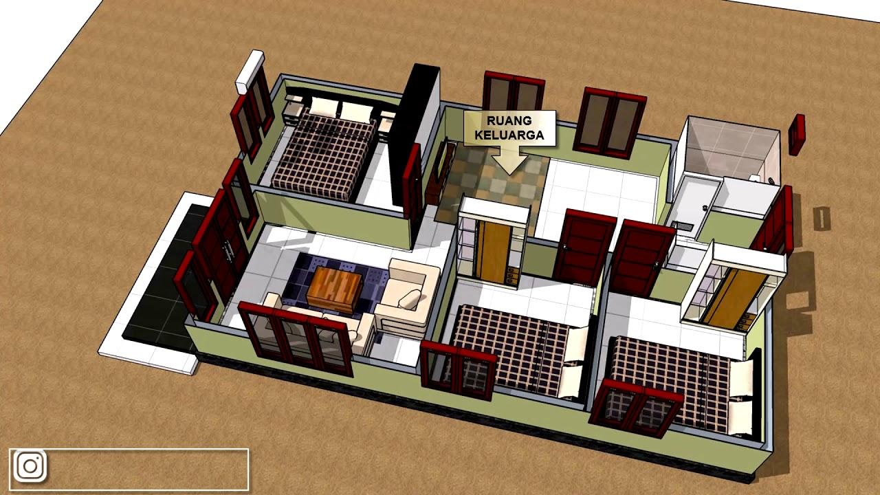 Rumah Minimalis Luas 6x10 Meter Dengan 3 Kamar Tidur Youtube