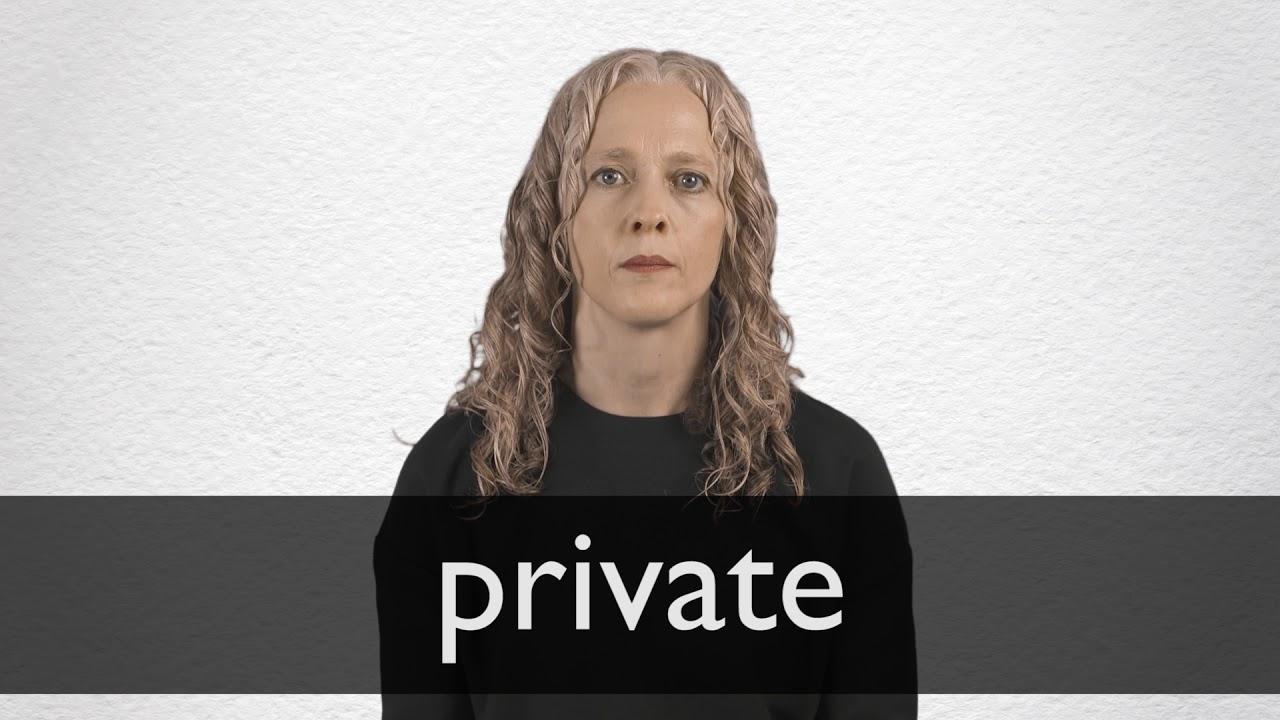 Private Definition