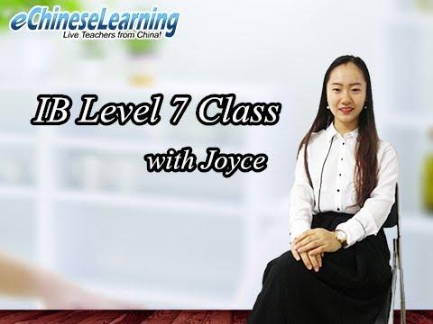Mandarin Chinese: IB Level 7 Class with Joyce
