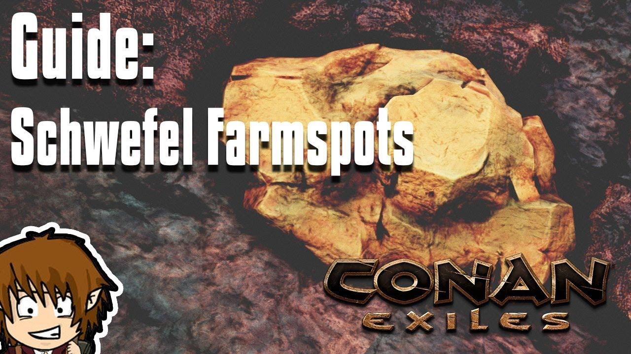 Conan Exiles Schwefel Karte