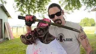 Amazing Wakizashi Head Slice and Decapitation! Zombie Go Boom