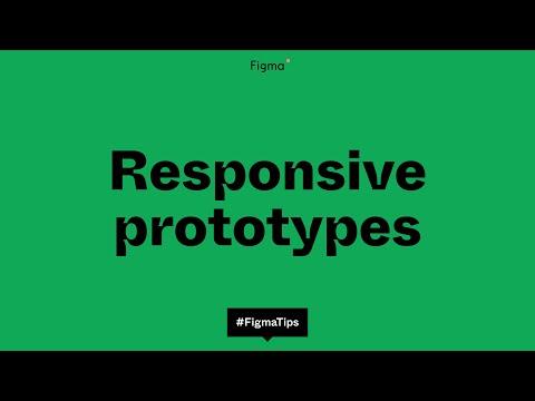 Responsive prototypes using smart animate