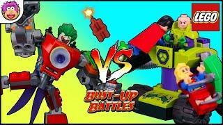 Lex Luthors Battle Tank vs The Jokers Battle Bot ! LEGO BUST-UP BATTLES #6 Lex Luthor battles JoKER