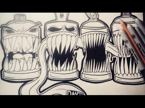 Comment Dessiner Bombes De Peinture Graffiti  Youtube