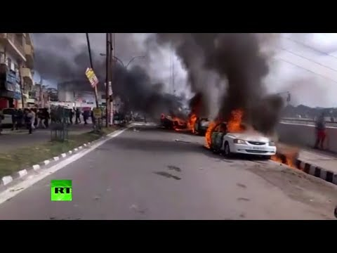 Protest breaks out in Kashmir after suicide bombing takes lives of 44