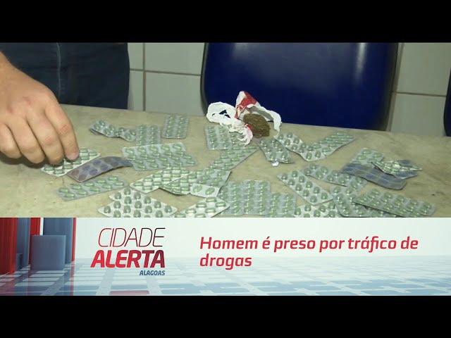 Homem é preso por tráfico de drogas em posto de combustíveis