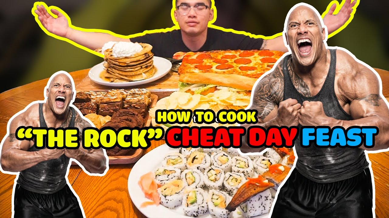 """How to cook """"THE ROCK"""" CHEAT MEAL FEAST - YouTube"""