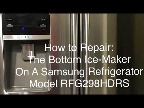 How To Repair Samsung Refrigerator RFG298HDRS Bottom Ice