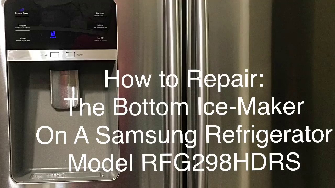 Samsung refrigerator turn off bottom ice maker