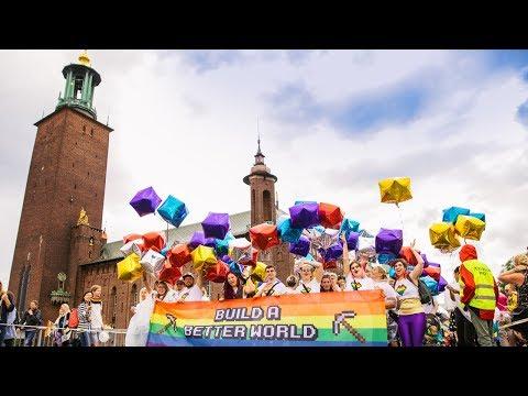 Mojang celebrate at Stockholm Pride 2017!