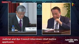 LIVE: Judicial and Bar Council interviews chief justice applicants | 16 August 2018