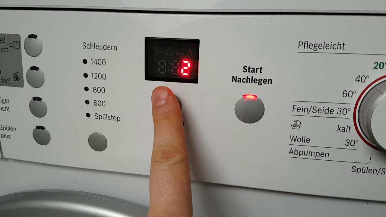 bosch maxx 6 varioperfect waschmaschine ton t ne ausschalten deaktivieren youtube