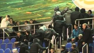 Драка фанатов Шатуры и Солнечногорска на мини-футболе