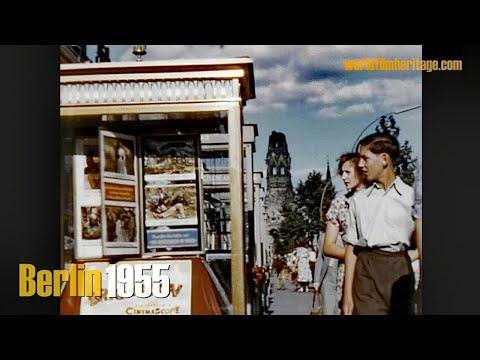 Berlin 1955 color - Brandenburger Tor ohne Quadriga - Ku?dam