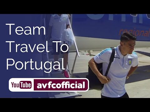 Villa squad travel to Portugal