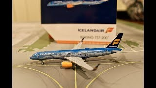 """Geminijets 1:400 Icelandair 757-200 """"Celebrating 80 Years of Aviation"""" Review and Unboxing"""