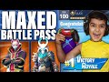 VICTORY = MAX SEASON 5 BATTLE PASS FOR MY 5 YEAR OLD LITTLE BROTHER! | KID GETS FORTNITE BATTLE PASS
