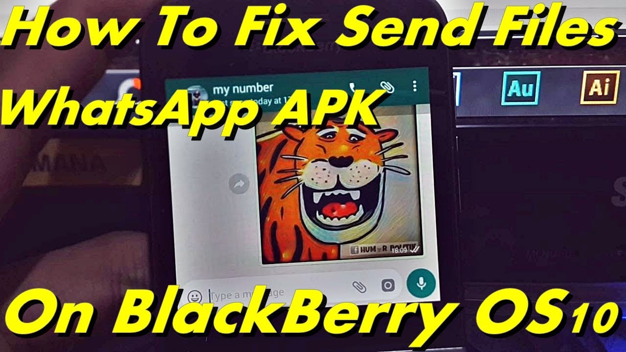 How To Fix Send Files WhatsApp on BlackBerry OS10