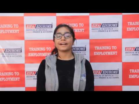 Watch How EIFA-EDUHOME Student Learned Accounts In Just 3 Months