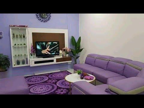 21 Desain ruangan Tema warna Unggu minimalis    inspirasi ...
