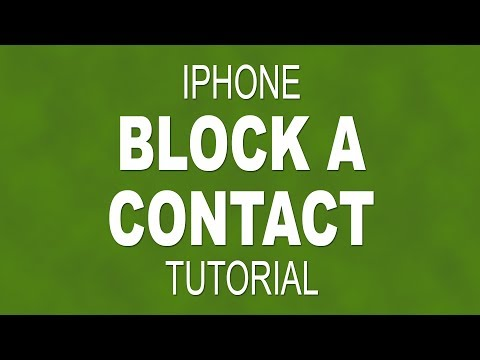 How to block a contact on an iPhone