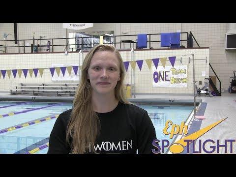 Eph Spotlight: Erin Kennedy '19 Swim & Dive Team