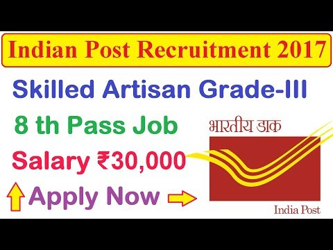 Indian Post Recruitment 2017 | Latest 8th Pass Government Job | Apply Now