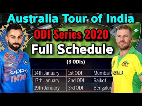 Australia Tour Of India, 2020: Australia V India: Schedule, Fixtures, Venues | IND Vs AUS ODI Series