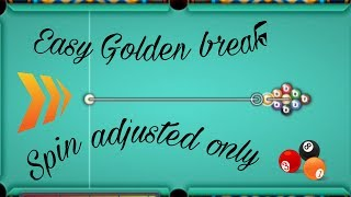 Very Easy Golden Break for 9ball || by SPIN ADJUSTMENT ONLY