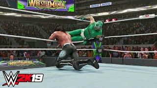 WWE 2K19 - Rey Mysterio vs AJ Styles Gameplay! Wrestlemania 34