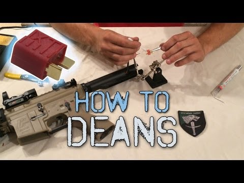 How To Install Deans Connectors onto your Airsoft Gun
