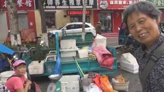 Утренний рынок в Китае.  Продукты без химии и ГМО