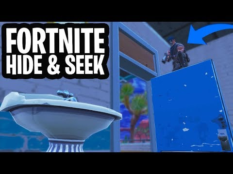 HIDE & SEEK #4 MINI-GAME!  - Fortnite: Battle Royale Playground (Nederlands)