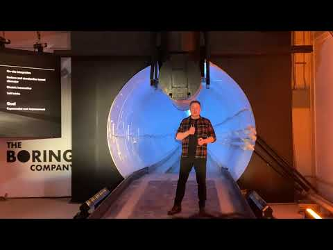 Elon Musk Gives Me High Five 🖐& Unveils Boring Company Tunnel