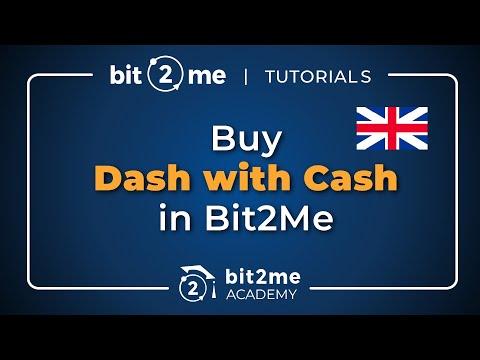 Buy Online Dash With Cash In Bit2Me!