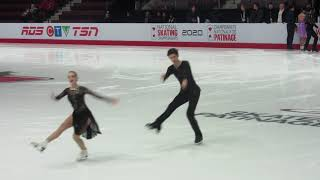 2020 Canadian Tire Figure Skating Championships.Junior Ice Dance. Warm up . Group 3.