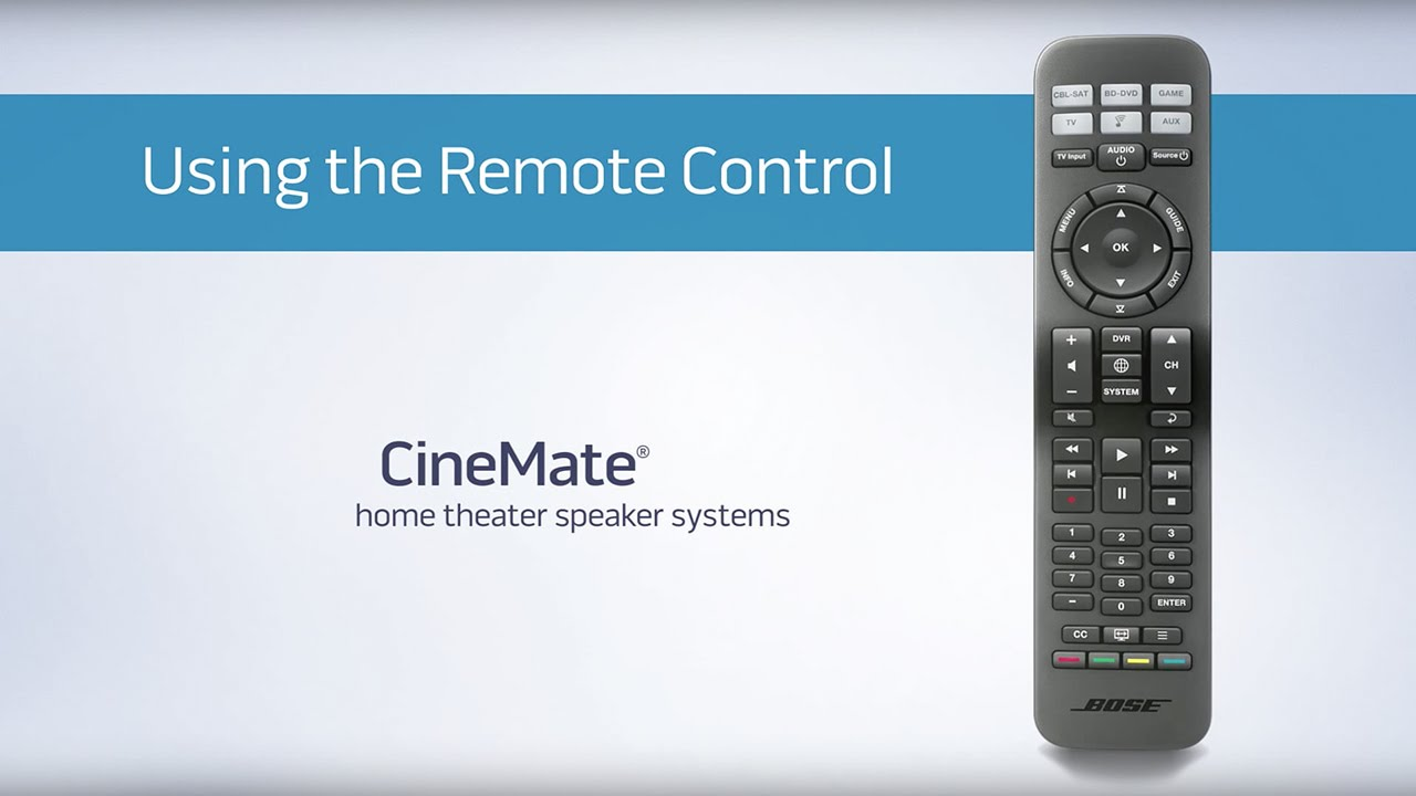 bose universal remote. how to program the solo 15 / cinemate universal remote. bose product support remote