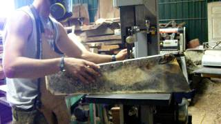 How To Resaw By Andrew Somawang - California Fruitwoods 8-13-2011