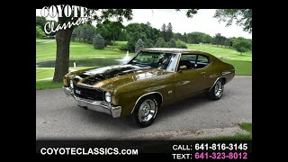 1972 Chevelle for sale at ww.CoyoteClassics.com