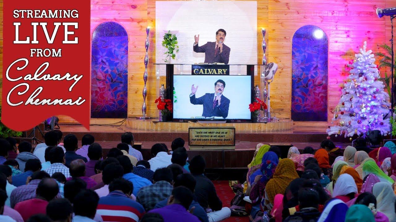 Telugu Worship   Streaming Live from Calvary Church Chennai   Dr Jayapaul   09-12-2018