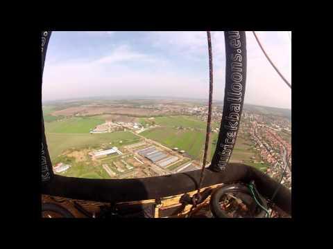 Balloon Flight Over Bratislava, Slovakia