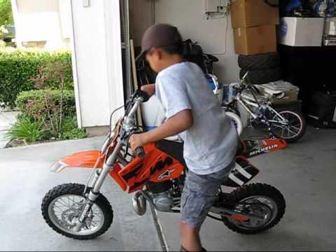 danny tries to kickstart his first 2-stroke dirt bike - 2004 ktm