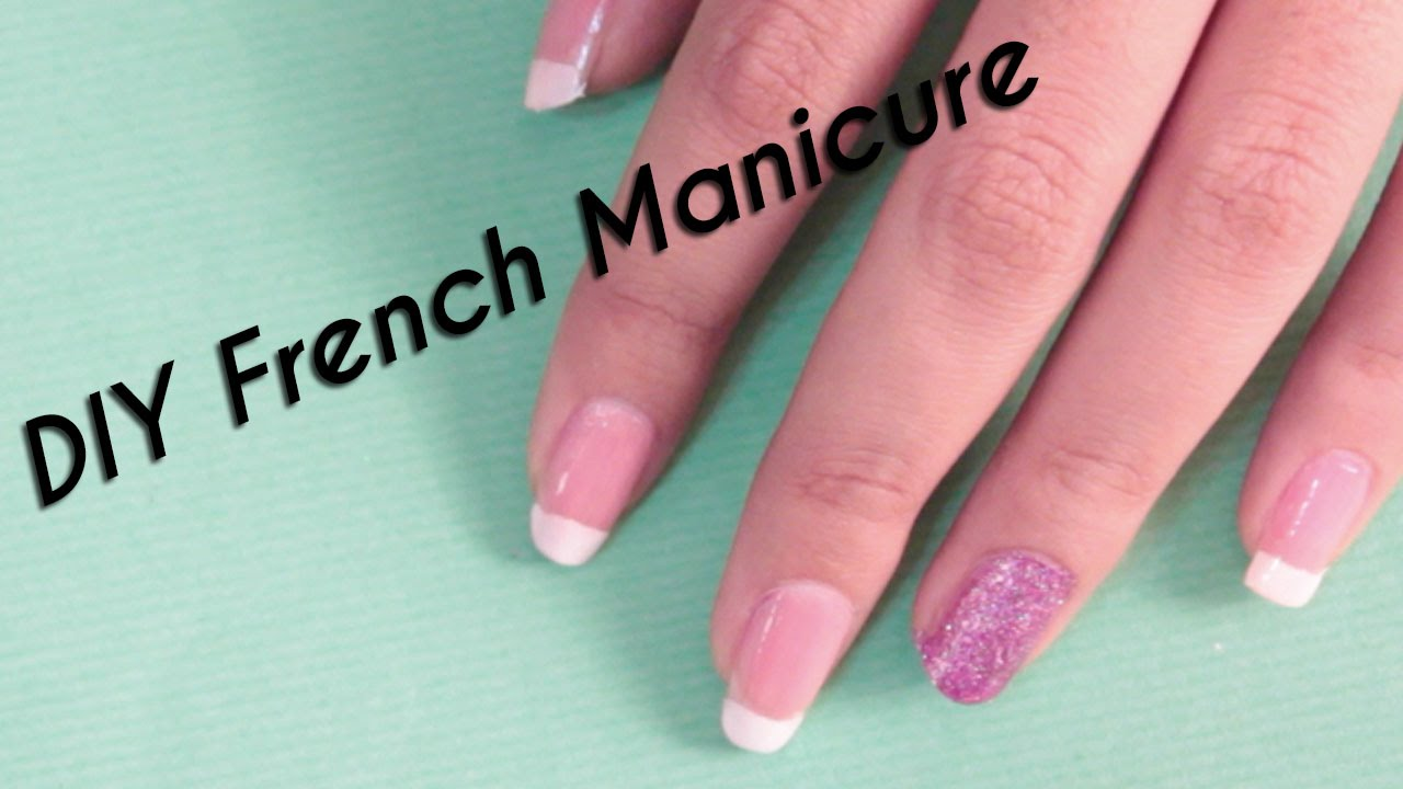 DIY French Manicure Nail Art Scotch Tape Method