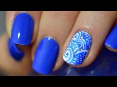 Nail Art Don T Panic Only Pen Polish Youtube