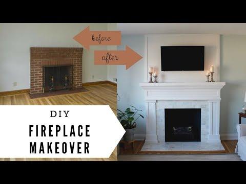 Fireplace Makeover - DIY Fireplace