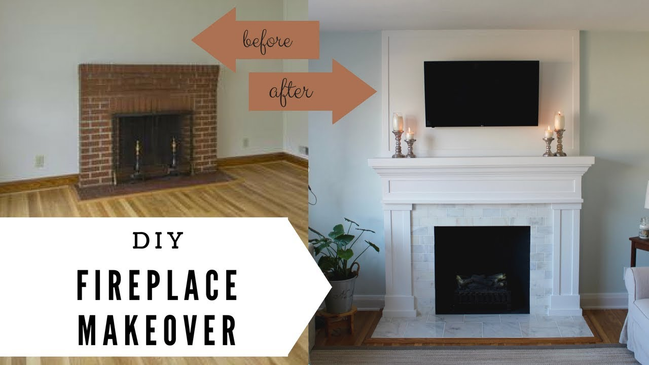 Fireplace Makeover Diy