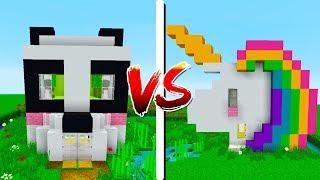 CASA PANDA 🐼 VS CASA UNICÓRNIO 🦄 - Minecraft Casa vs Casa