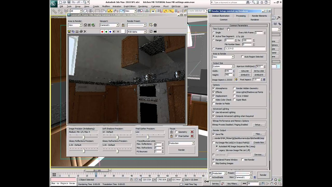 Flicker Free Final Gathering 3ds Max Rendering Tutorial Using Mental Ray Youtube